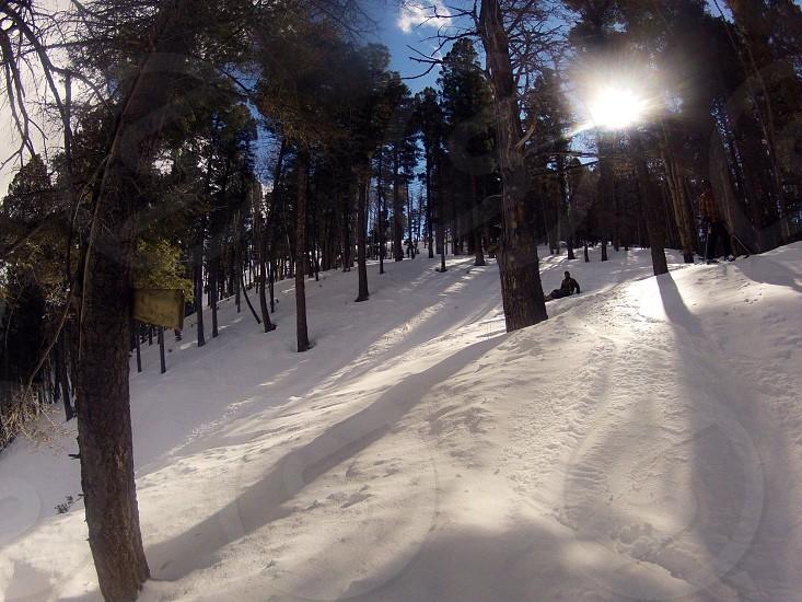 Snow skiing mountain resort slopes snowboard photo
