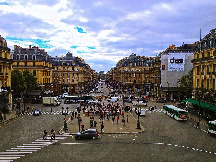 Streets of Paris.  photo