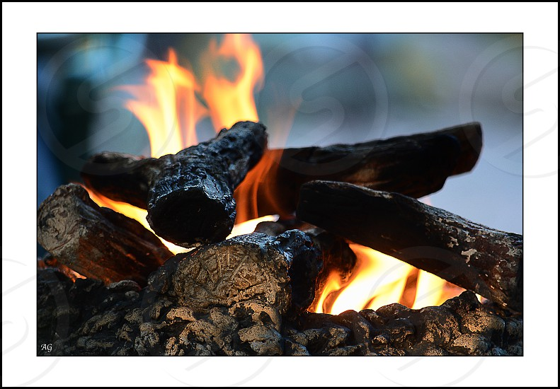 close up photo of fire pit photo