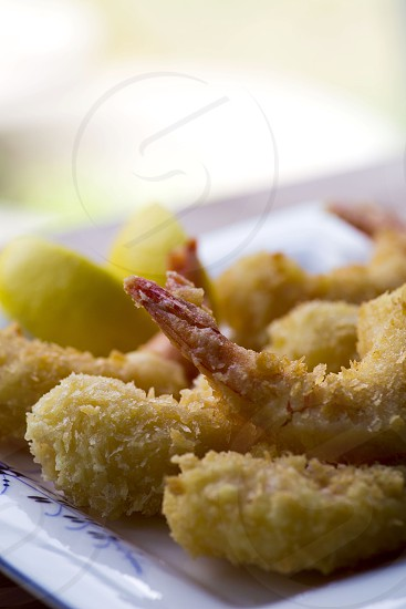 Deep fried shrimps cripsy photo