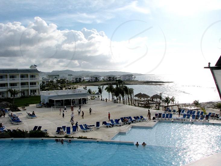 Volleyball pool resort photo