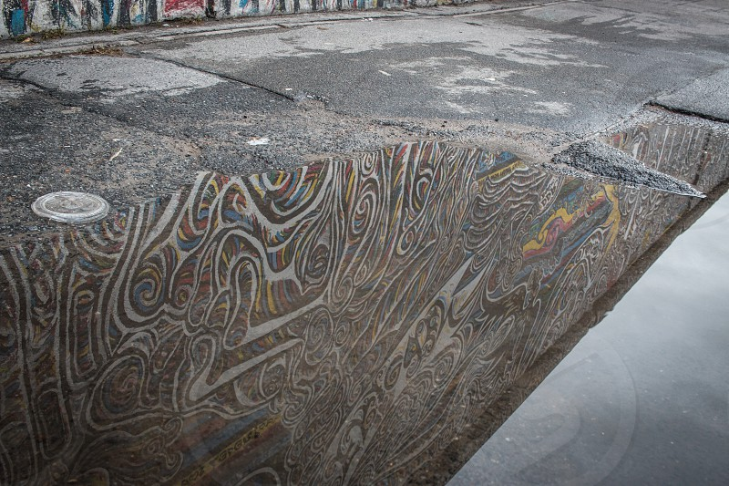 Reflections of the Berlin Wall. photo