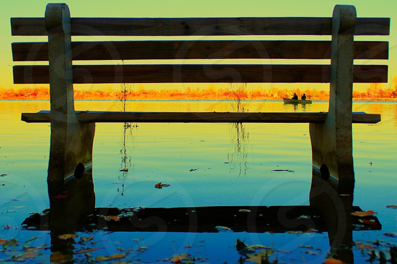 Color matching flood bench colorful  photo