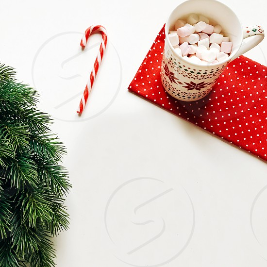Christmas decorations/ New Year's wreath. Christmas decorative toys. Christmas tree photo