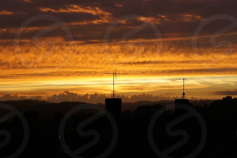 Warm sunset in Washington Pa photo