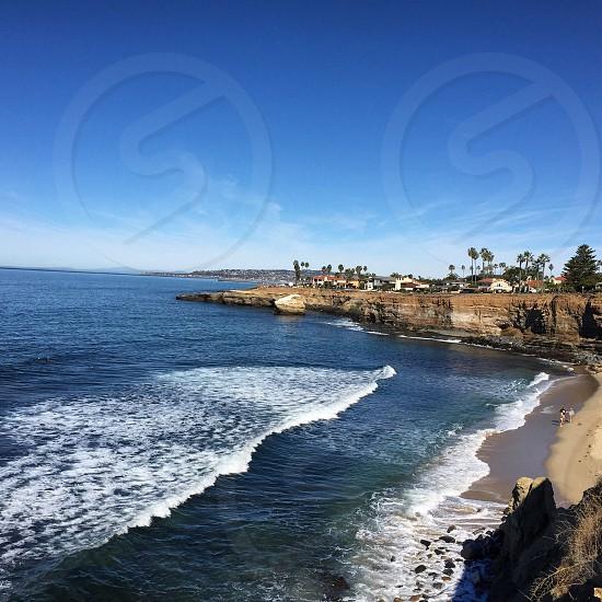 blue sea waves photo