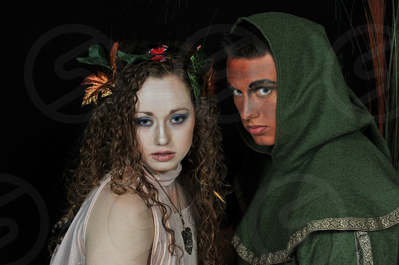 Male & Female Portrait with Make-up and constume photo