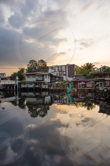 On the banks of Bangkok's Lat Phrao canal. photo