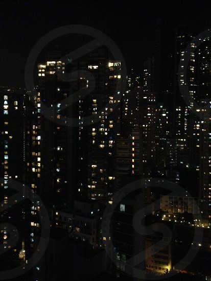 Hong Kong at Night in Soho photo