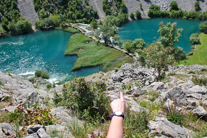 Scenic view of the river in Croatia photo