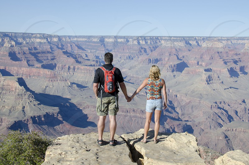 Couple at the Grand Canyon Arizona photo