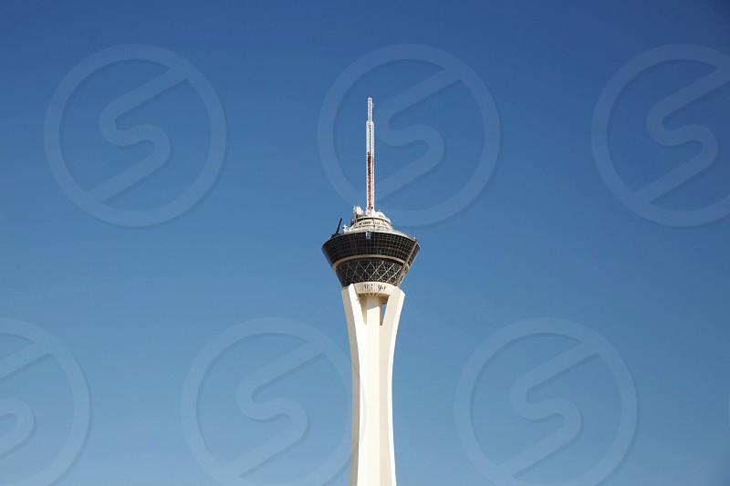 big shot stratosphere las vegas tower blue sky photo