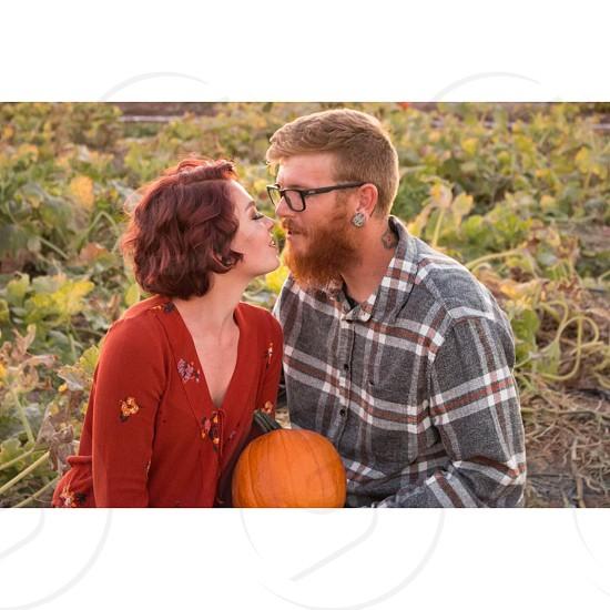 Love fall pumpkin patch Married pumpkin photo