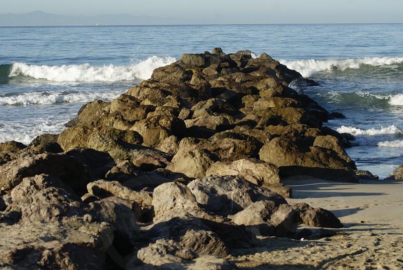 beach rocks  photo