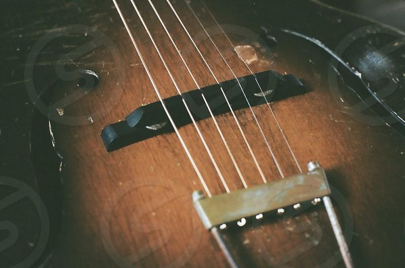 stringed instrument wooden photo