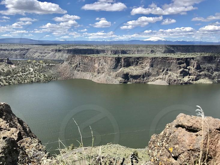 Sky river rock high desert  photo