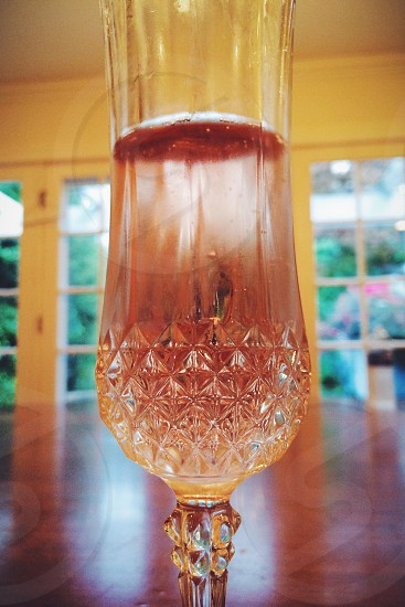 clear champagne glass photo