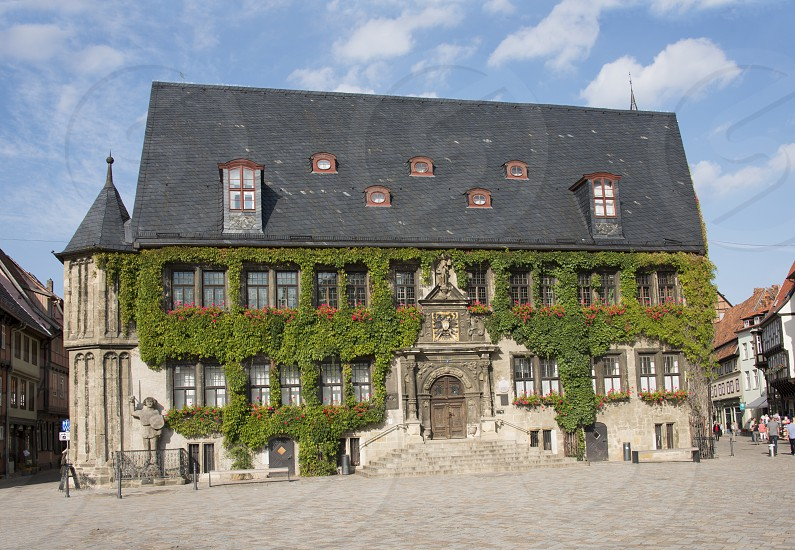 Monumental townhall ir townhouse in the german place Goslar photo
