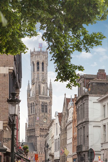 Belfry of Bruges in Belgium of Bruges photo