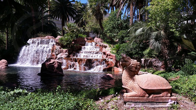 Water feature at Mirage Las Vegas photo