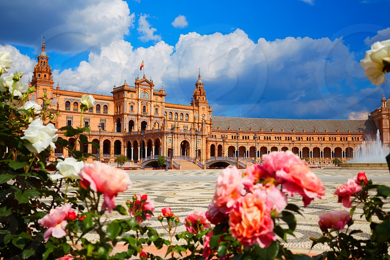 Seville Sevilla Plaza de Espana in Andalusia Spain square photo