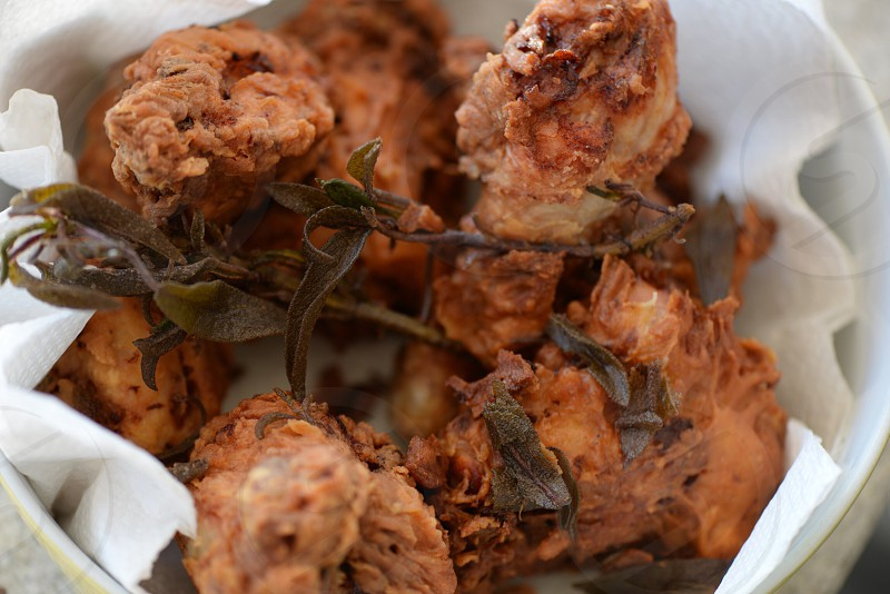 close up photography of fried food in white bowl photo