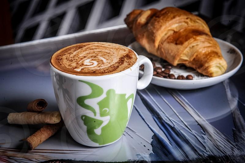 Morning croissant photo