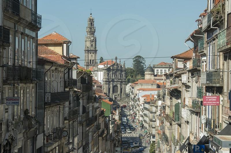 the igreja dos Clerigos in Ribeira in the city centre of Porto in Porugal in Europe. photo