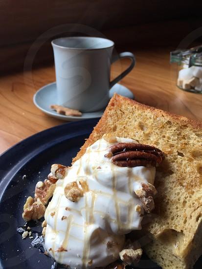 カフェ、喫茶店、スィーツ、シフォンケーキ、コーヒー、デザート、休日、 photo
