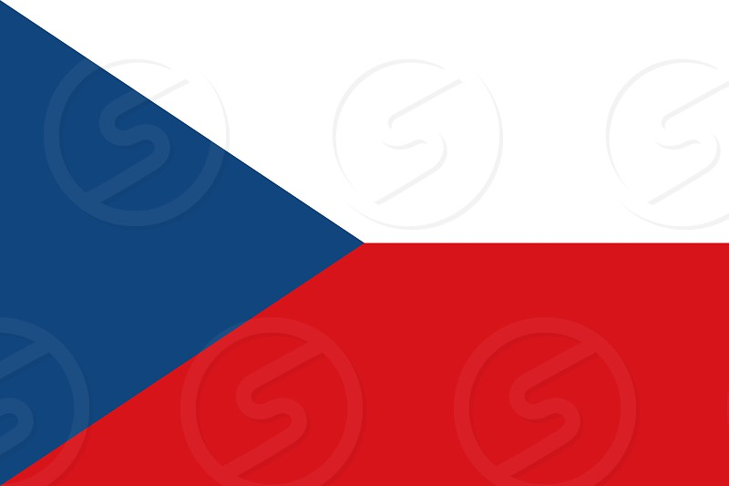 Official Large Flat Flag of Czech Republic Horizontal photo