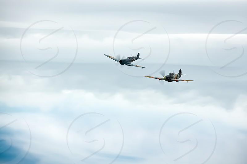Supermarine Spitfire PR XI PL965 and Hawker Hurricane Mk.IIb photo
