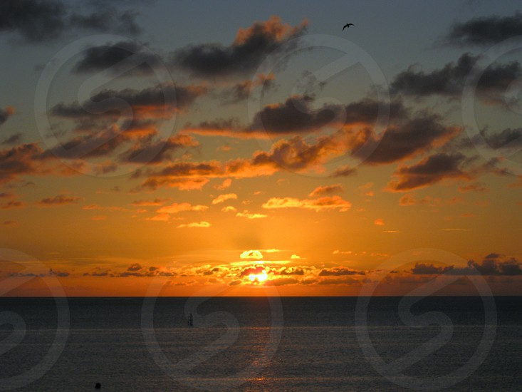 Golden Outer Banks Sunset Hatteras Island NC photo