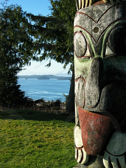 Totem with view to the world photo