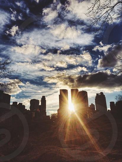 Sun down in Manhattan. photo