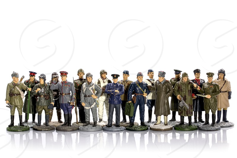 Figures of tin soldiers photo