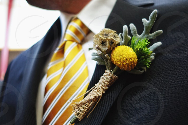 Wedding boutonniere photo