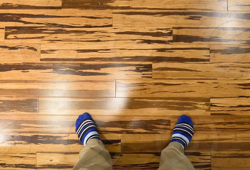 Striped socks bamboo hardwoods  photo