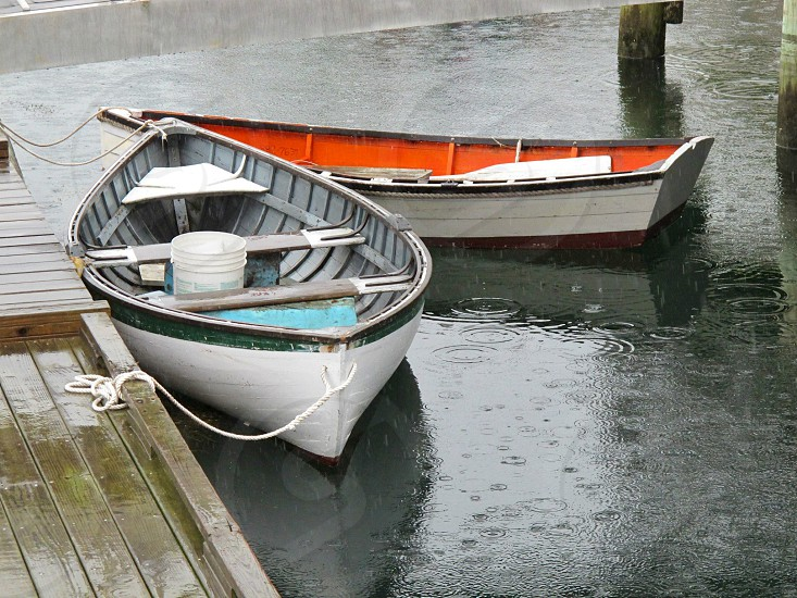 Boats dinghy ocean water boating dock photo