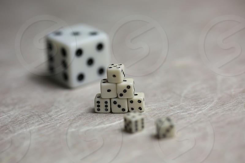 Tiny dice stacked photo