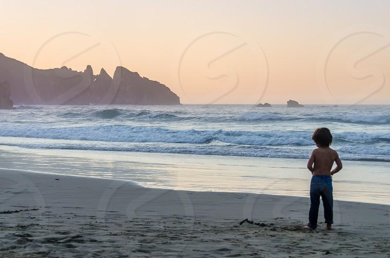 Holidays summer beach sunset child photo