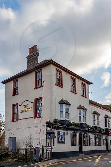 CRAWLEY WEST SUSSEX/UK - NOVEMBER 21 : The Railway Hotel in Crawley West Sussex on November 21 2018. photo