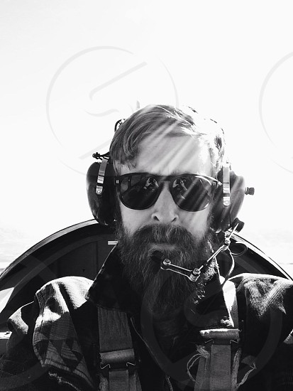 Bearded pilot (copilot) photo