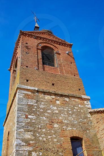 El burgo Ranero church by Saint James Way in Leon Spain photo