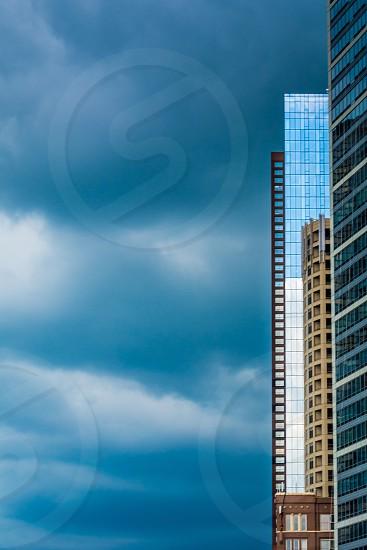 Chicago city cityscape color storm clouds skyscraper photo