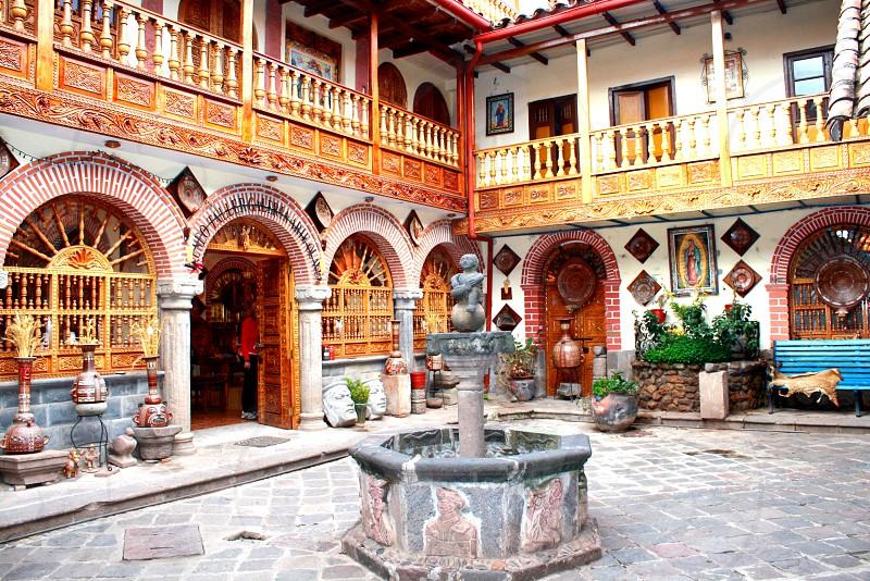Peru cusco courtyard photo