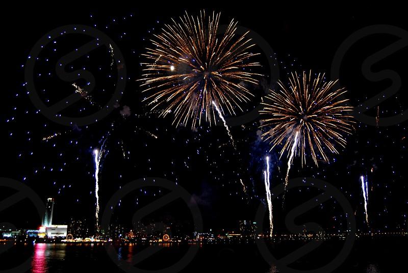 Detroit fireworks photo