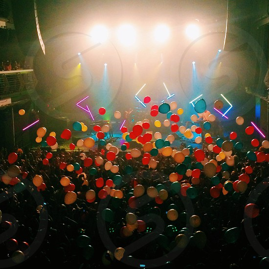 assorted colored balloons photo