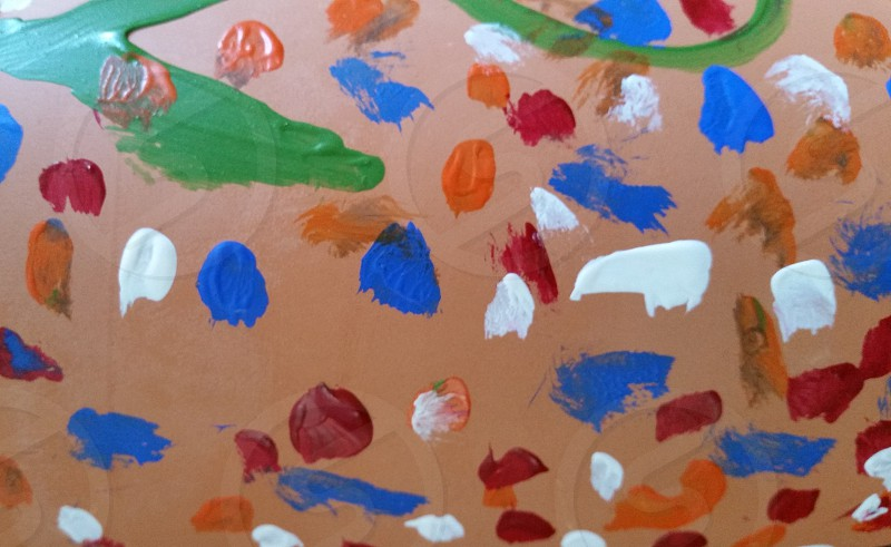 Painting Clay Polka Dots photo
