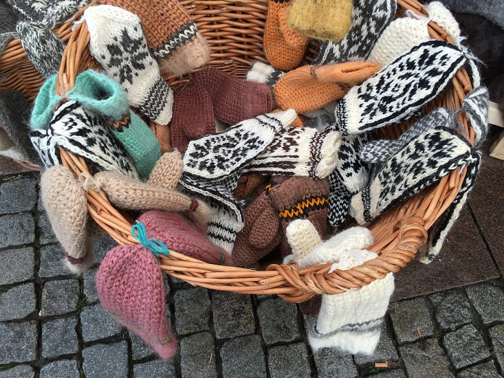 Warm clothes knitted wool handmade photo