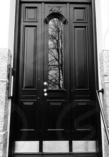 Door Black and White  photo